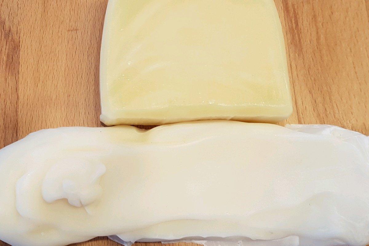 fertige Seife mit und ohne Gelphase im Vergleich