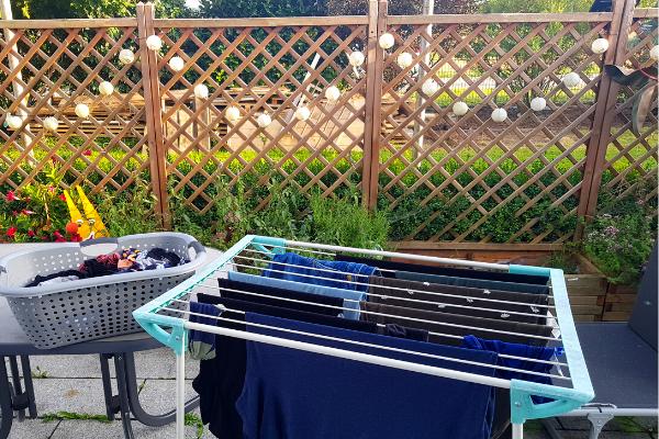 Wäsche auf der Wäscheleine